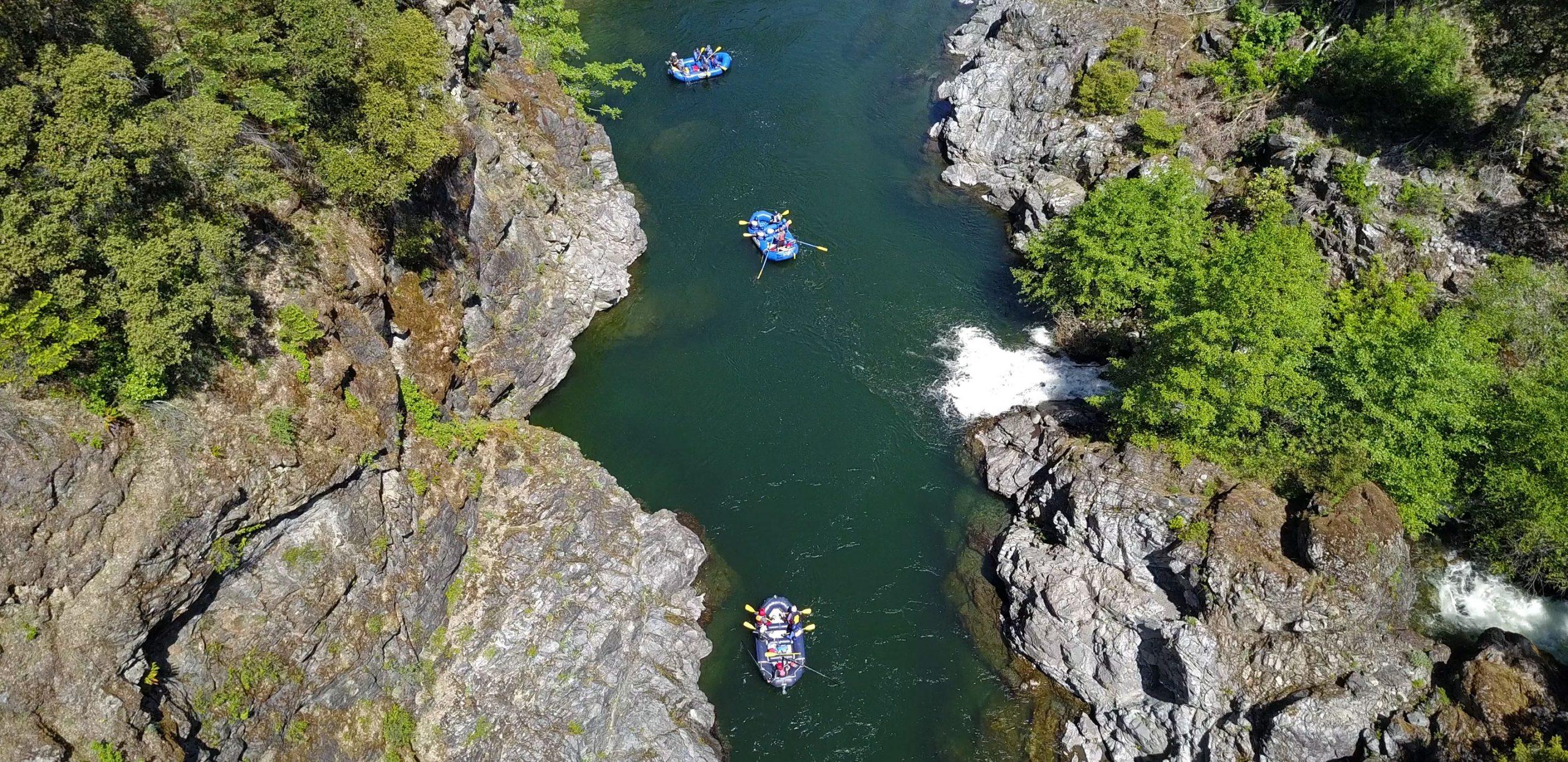 California Salmon Rafting Safari - Emerald Waters