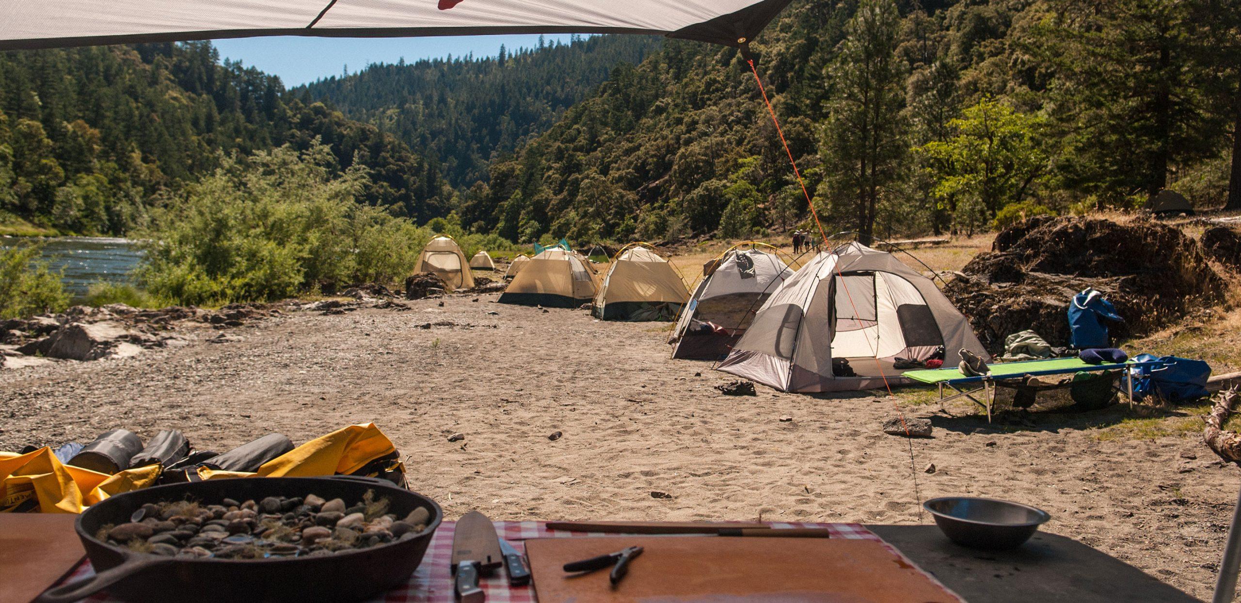 River Camping -