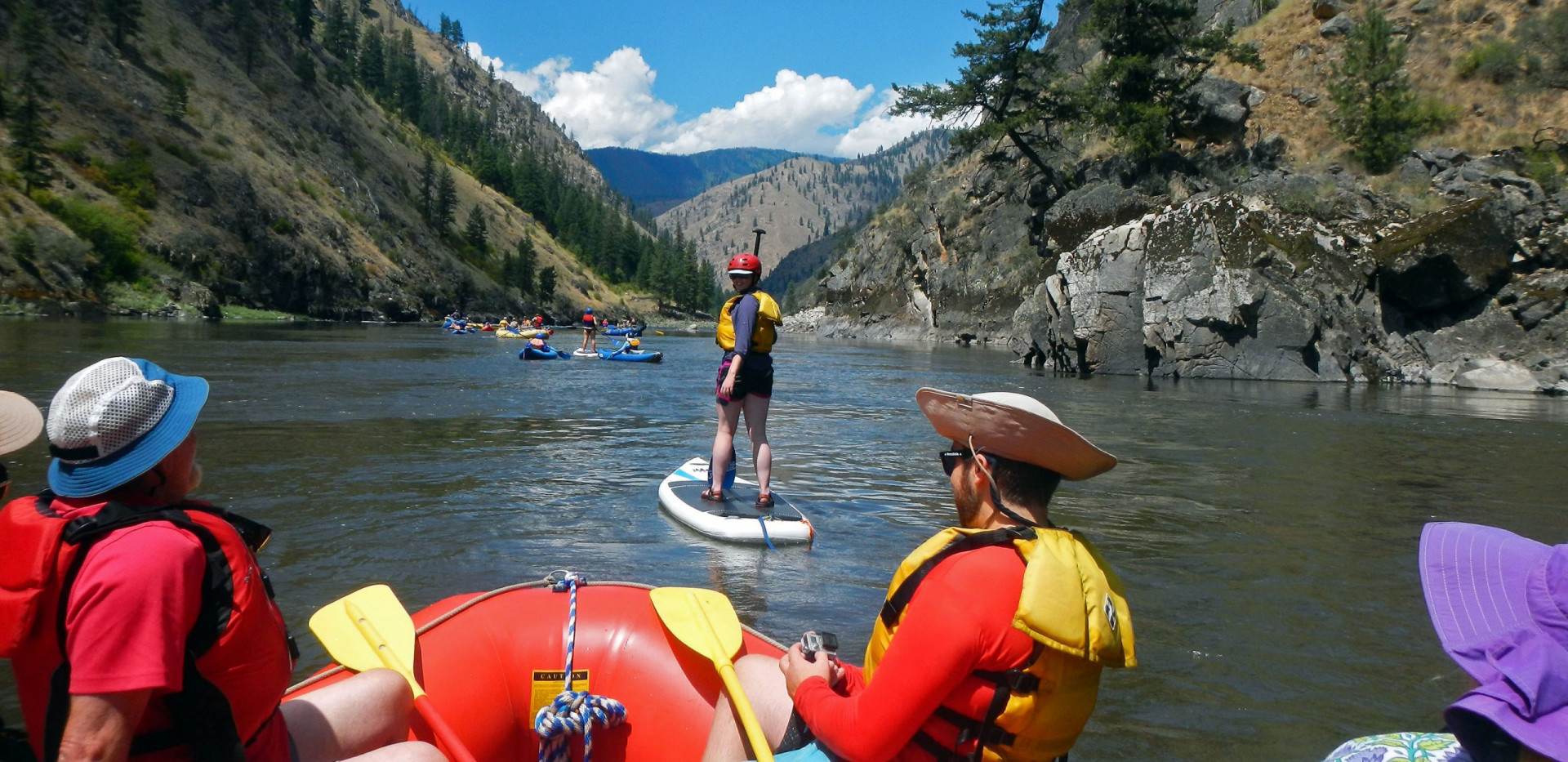 SUP - Family Rafting - Idaho Salmon River