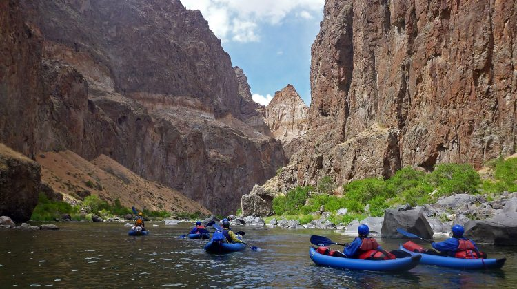 Inflatable Kayaking the Lower Owyhee