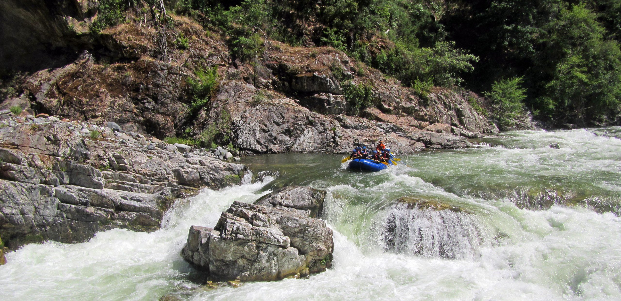 California Salmon Rafting Safari - Cascade Falls