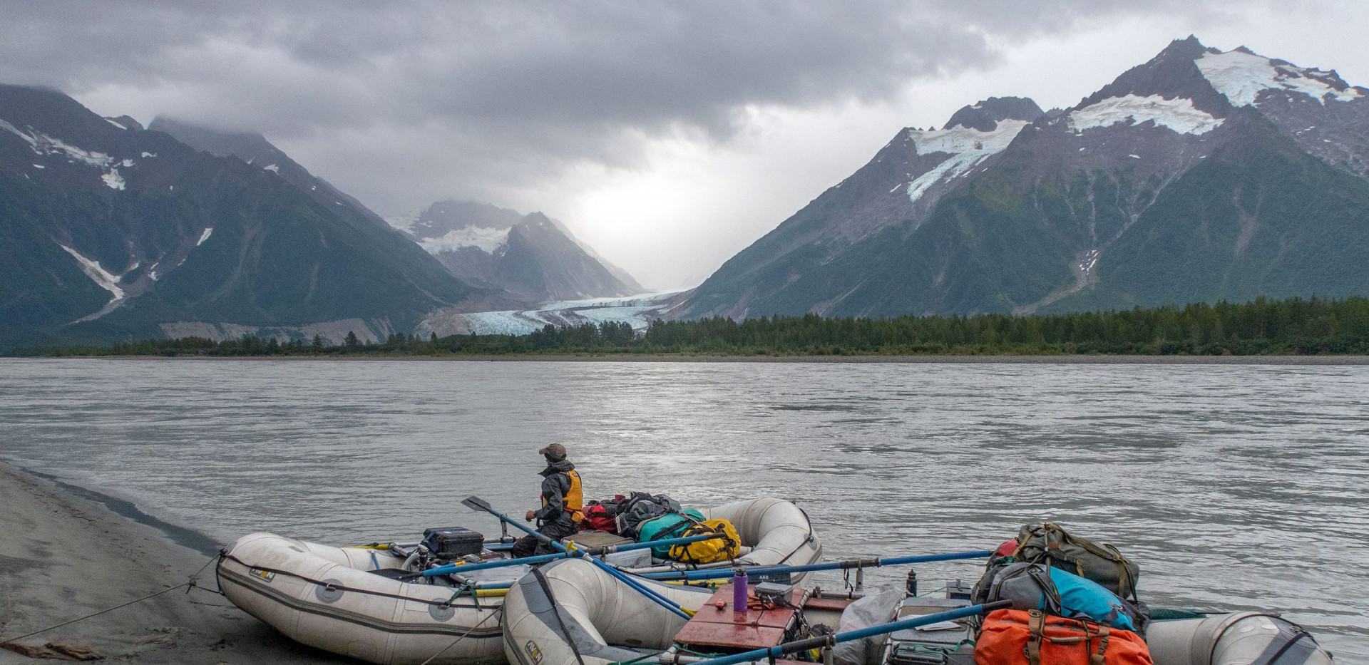 Tatshenshini River Rafting Alaska - Walker Glacier. Photo: Pete Wallstrom