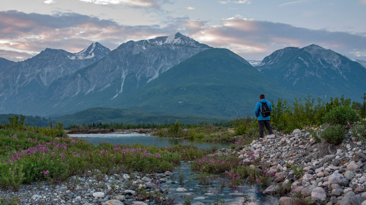 Dusk at Melt Creek - Rafting Alaska's Tatshenshini-Alsek River