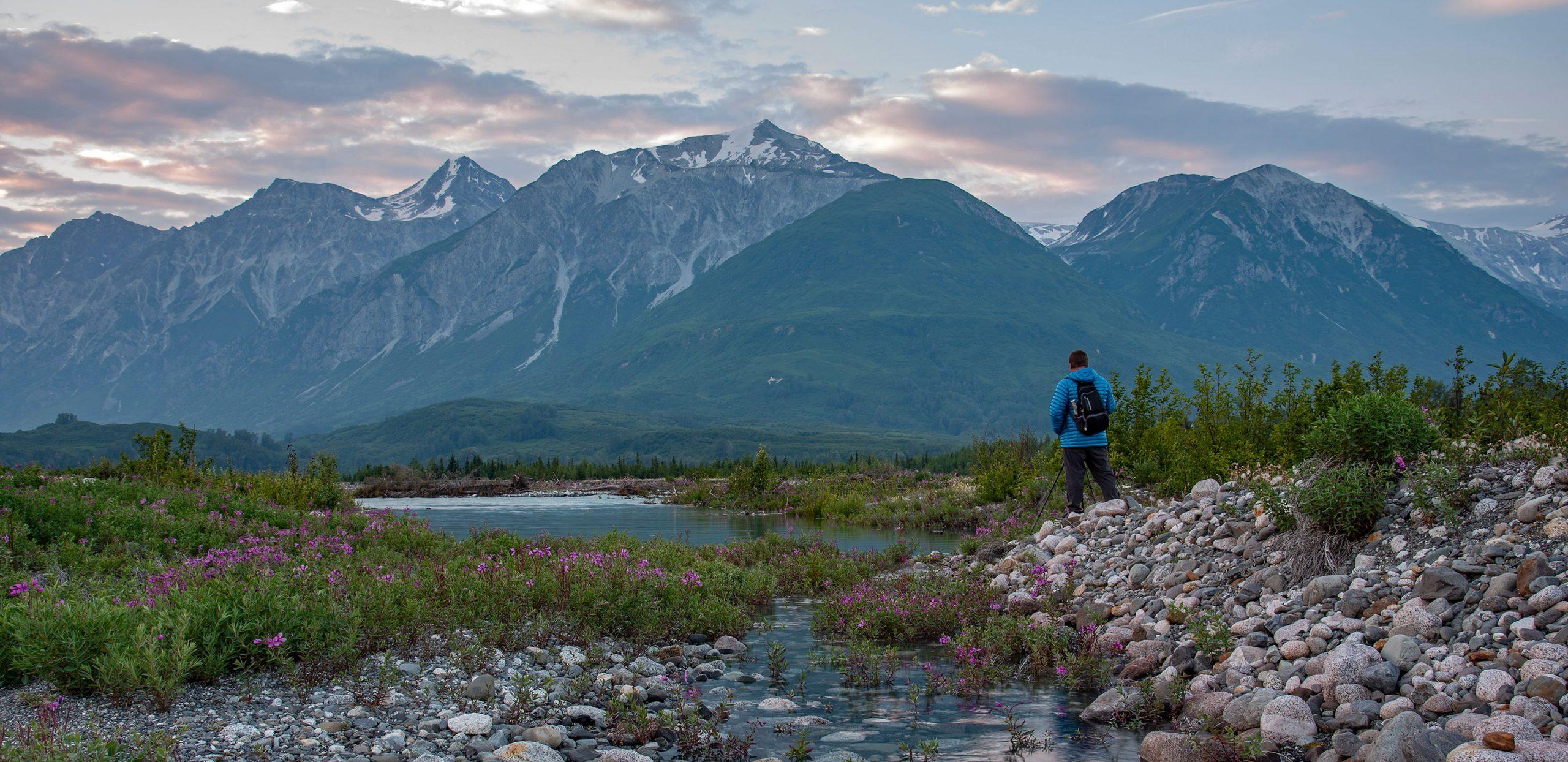 Dusk at Melt Creek - Rafting Alaska's Tatshenshini-Alsek River