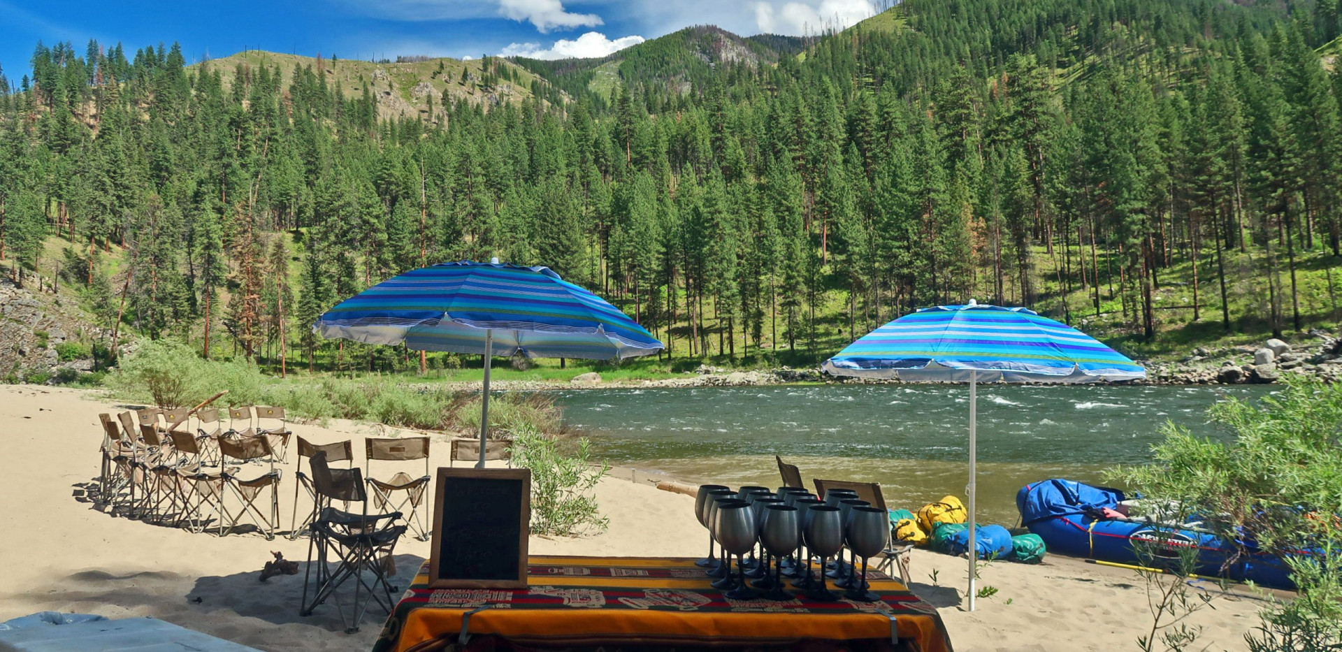 Luxury camping - glamping - river trip