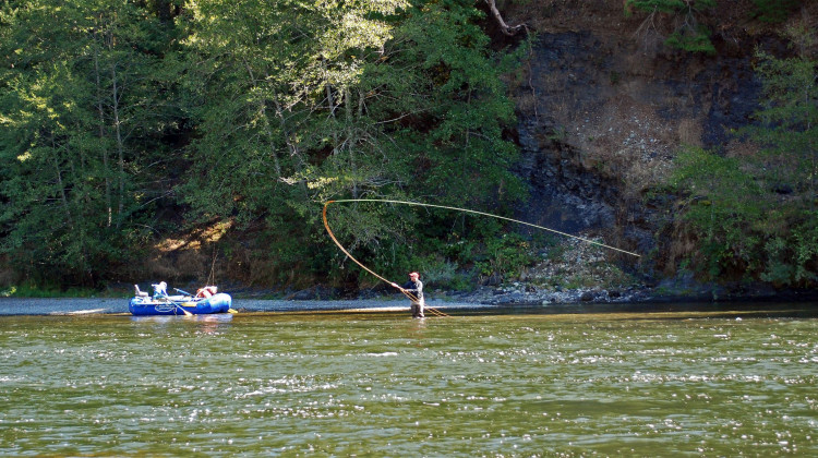 Rogue River fishing - Spey Rod