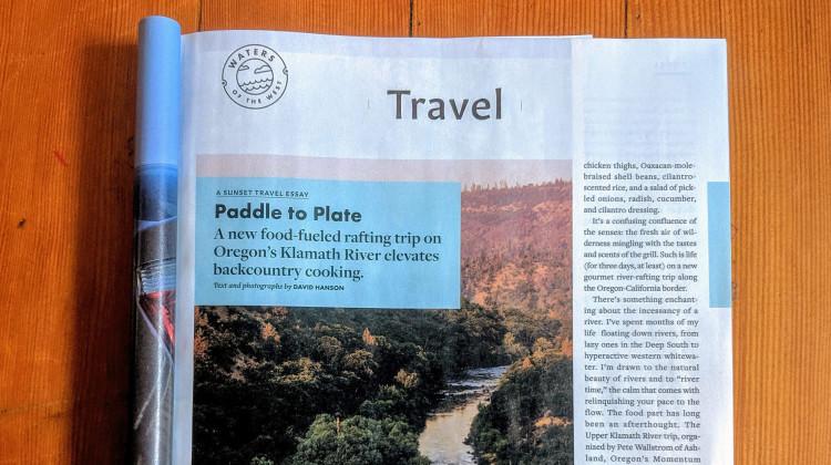 Upper Klamath Rafting Safari in Sunset Magazine