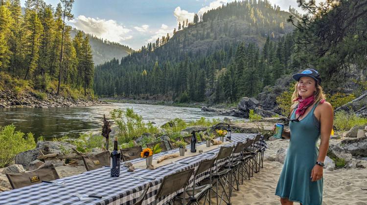 Luxury Camping & Rafting - Dinner Table is set