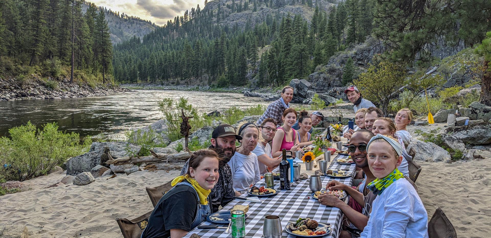 Luxury Camping & Rafting - Family Dinner - Idaho