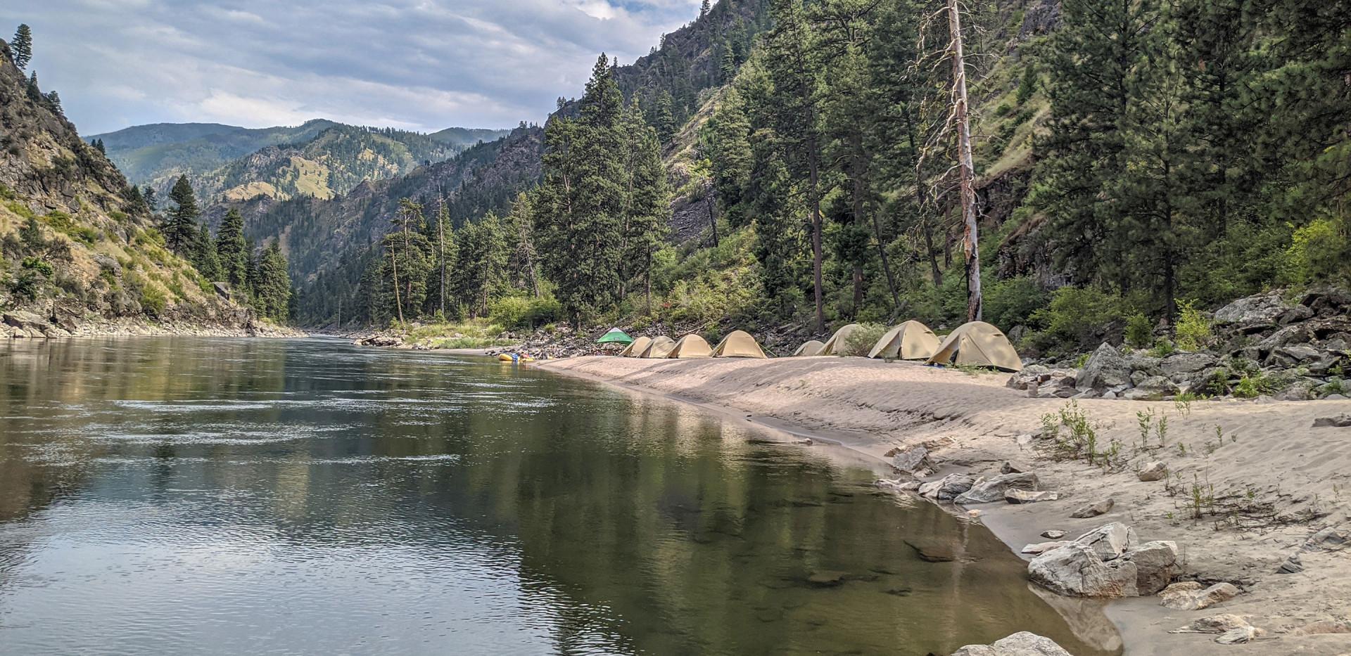Luxury Camping & Rafting - Safari Style Camp Idaho Salmon